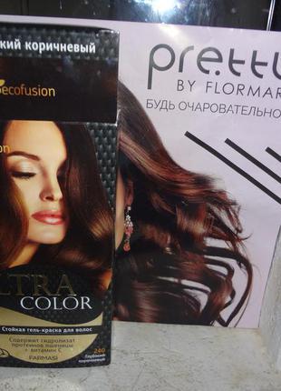"""Гель-краска для волос ultra color """"глубокий коричневый"""" от farmasi (ecofusion)"""