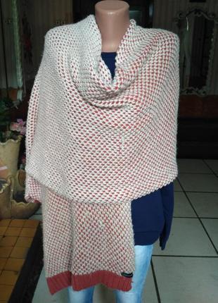 Bianco. большой шарф, плед, палантин