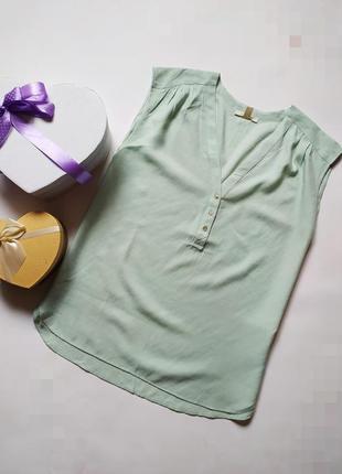 Легкая невесомая мятная блуза