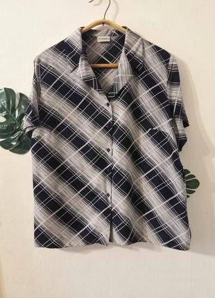Винтажная рубашка из вискозы, винтаж