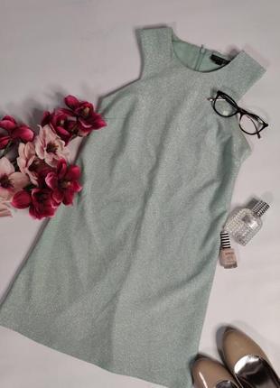 Коктельное мятное платье