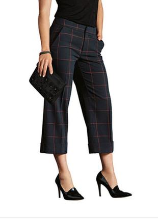 Стильные женские брюки-кюлоты в клетку esmara евро 38