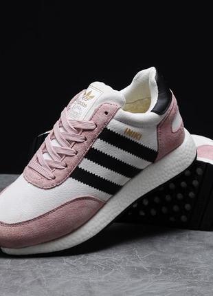 Зимние женские кроссовки adidas iniki, розовые