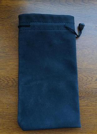 Черный чехол-мешочек для очков