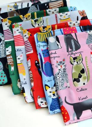 Шелковый платок с котиками
