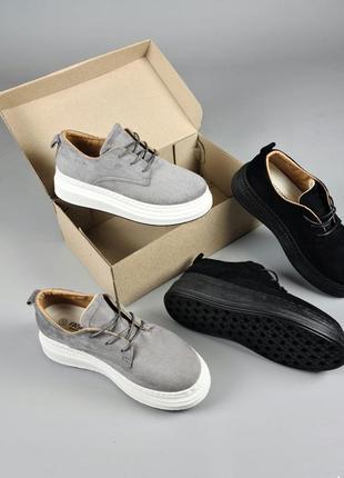 Велюровые кроссовки на платформы
