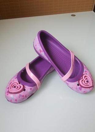 Подросковые балетки crocs original