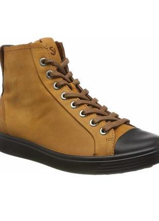 Ботинки ecco soft 7 w полуботинки новые! в наличии!! оригинал!!!