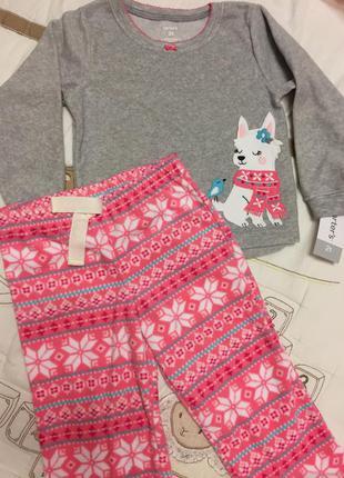 Флисовая пижамка carter's 2t