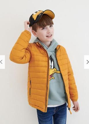 Reserved новая тёплая стёганая курточка мальчику  р.110-164