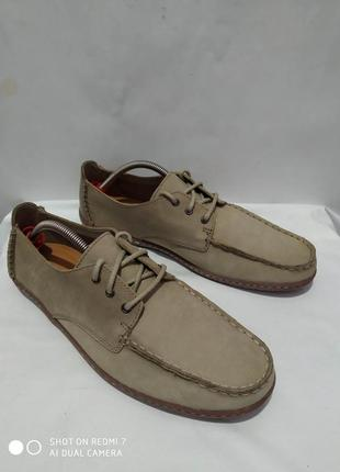 Кожаные туфли мокасины лоферы топсайдеры clarks