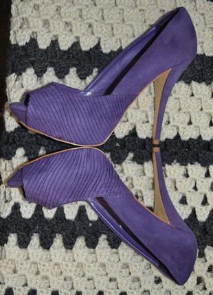 Туфли замшевые zara