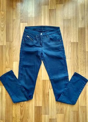 Штаны синие зауженные к низу