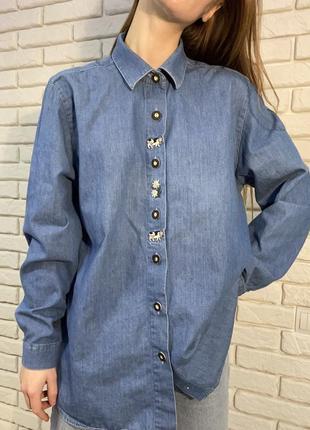 Винтаж vintage вышитая рубашка хендмейд вышивка ручная работа