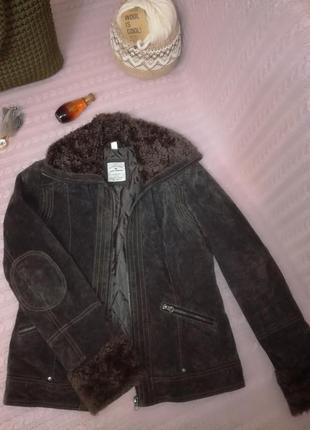 Кожаная замшевая куртка деми tom tailor, р.12 (10)