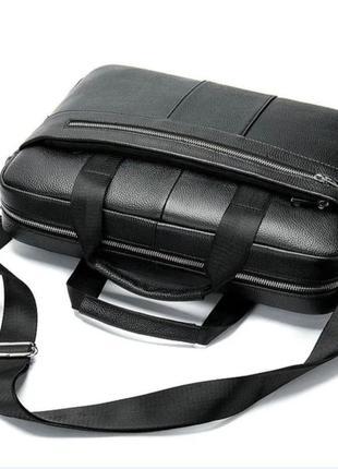 Мужской кожаный портфель/сумка для ноутбука и документов/офисный кожаный мужской портфель