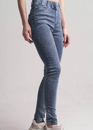 Джинсы варенки, джинсы с потертостями, эластичные джеггинсы, плотные джеггинсы, р-р 46-52