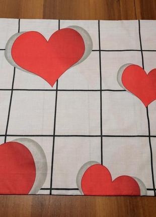 Наволочки - алые сердечки, быстрая отправка, все размеры