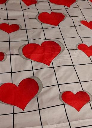 Простыни из бязи - алые сердечки, все размеры, разные расцветки, быстрая отправка