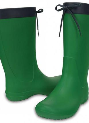 Сапоги резиновые кроксы новые women's crocs freesail rain boot размер w11