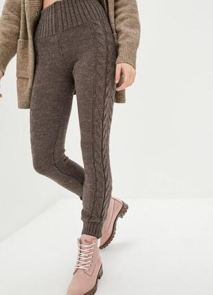 Модные,теплые,вязаные,демисезонные лосины с высокой посадкой