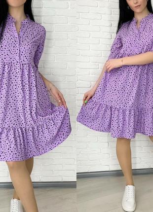 Платье женское мини короткое выше колена легкое весеннее свободное