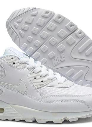 Оригинальные кроссовки nike air max 90 white leather