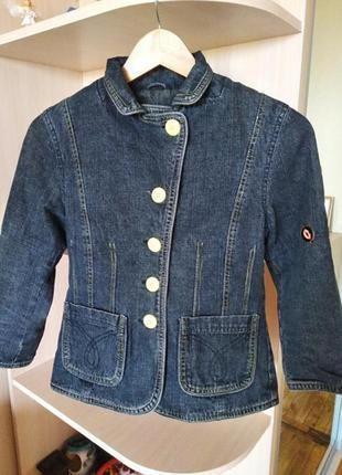 Шикарный ддинсовый пиджак, 100% котон,р. 44