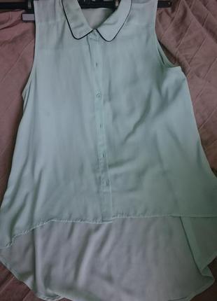 Мятная блуза. есть дефект