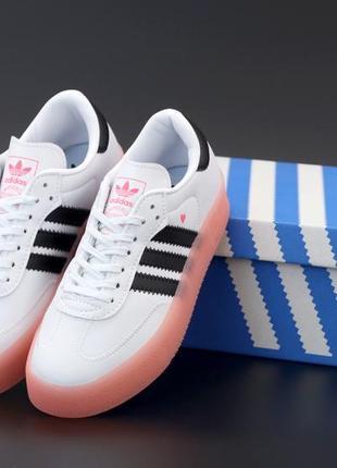 Шикарные женские кроссовки adidas samba наложка