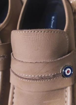Стильні якісні бежево-коричневі шкіряні мужські туфлі ben sherman розмір 44-457 фото