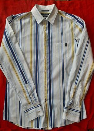 Брендовая мужская рубашка сорочка с длинным рукавом guess
