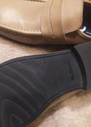 Стильні якісні бежево-коричневі шкіряні мужські туфлі ben sherman розмір 44-456 фото