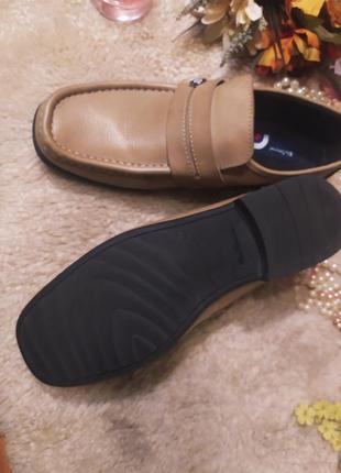 Стильні якісні бежево-коричневі шкіряні мужські туфлі ben sherman розмір 44-455 фото