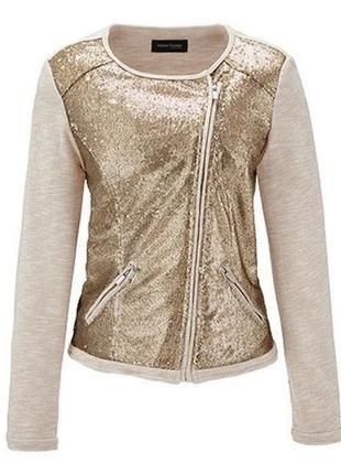 Оригинальный текстильный пиджак- жакет с пайетками от tchibo (германия) размер 38 евро=44