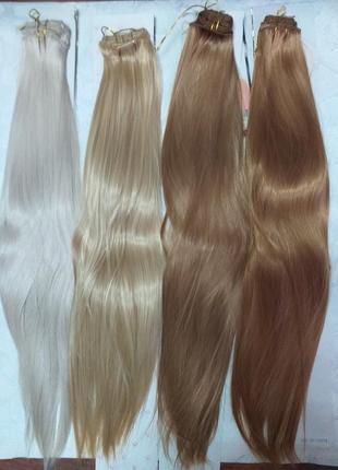 Термо волосы пряди на заколках