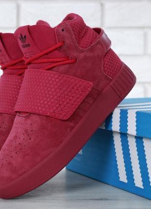 Шикарные женские кроссовки adidas tubular invader strap