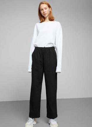 Брюки штаны на резинке sweep trousers weekday