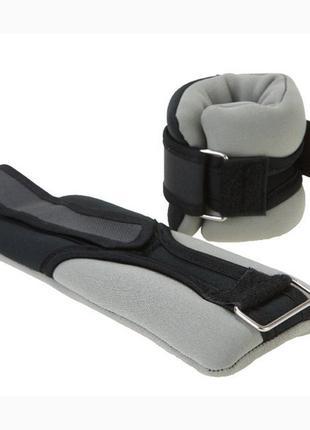 Утяжелители world sport ironmaster 2*1кг неопрен skl11-281808