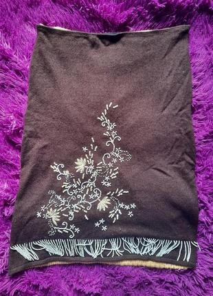 Уникальная теплая юбка , оригинал custo barcelona