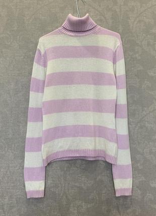 Кашемировый свитер с горлом водолазка бренда essentials, 100% кашемир. размер s-m.