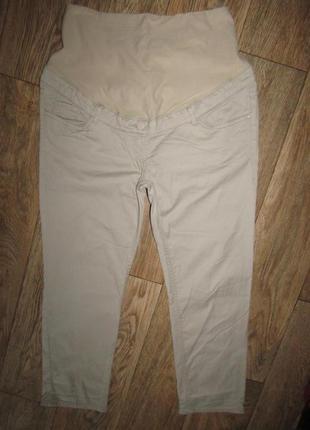 Укороченные брюки для беременных р-р л стрейч h&m