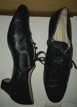 Мягчайшие кожаные туфли люкс качества enrico antinori, италия, оригинал