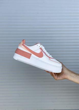 Nike air force шикарные женские кожаные кроссовки белые 🔻36-40р2 фото