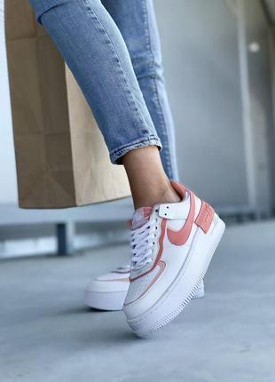 Nike air force шикарные женские кожаные кроссовки белые 🔻36-40р5 фото