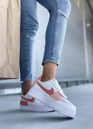 Nike air force шикарные женские кожаные кроссовки белые 🔻36-40р4 фото
