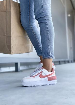 Nike air force шикарные женские кожаные кроссовки белые 🔻36-40р