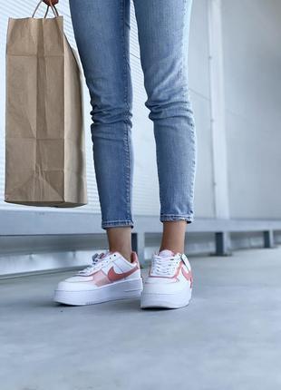 Nike air force шикарные женские кожаные кроссовки белые 🔻36-40р6 фото