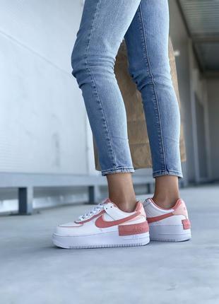 Nike air force шикарные женские кожаные кроссовки белые 🔻36-40р8 фото