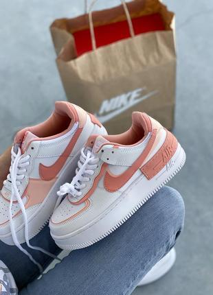 Nike air force шикарные женские кожаные кроссовки белые 🔻36-40р7 фото